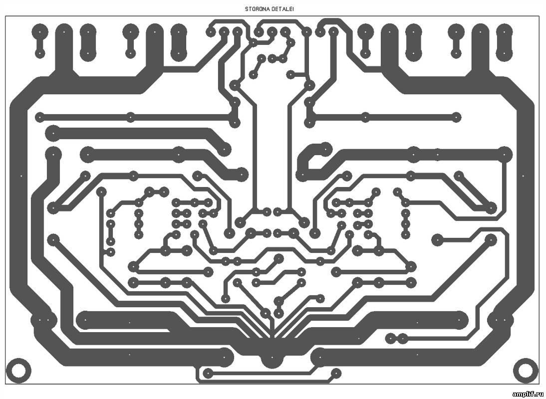 схема транзисторного унч на 300 ватт