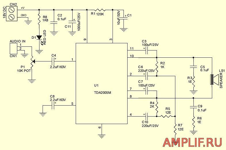 Мостовая схема включения микросхемы tda2004 - samopogruzru